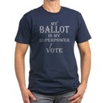 My Ballot Is Superpower Silver Logo Fitted T-Shirt