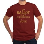 My Ballot Is Superpower Gold Logo Fitted T T-Shirt