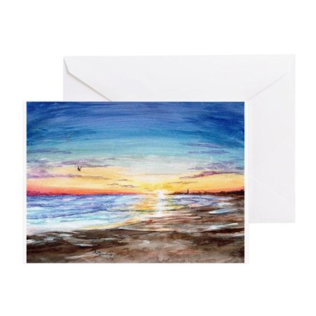 Cape May Sunset Greeting Card