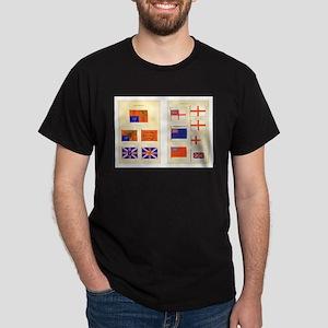 UK Nautical Flags Dark T-Shirt