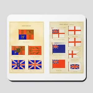 UK Nautical Flags Mousepad