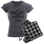 My Ballot is My Superpower Black Women's Charcoal