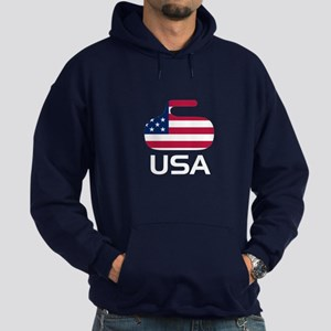 USA curling Hoodie (dark)