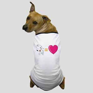 Dalmation Equals LOVE! Dog T-Shirt