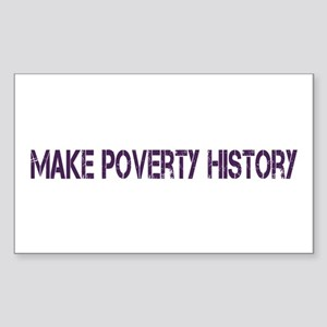 Make Poverty History Sticker (Rectangle)