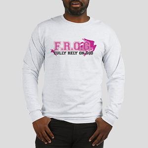 FROG pink Long Sleeve T-Shirt