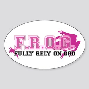 FROG pink Sticker (Oval)