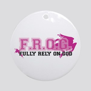 FROG pink Round Ornament