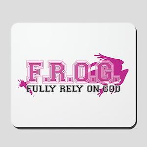 FROG pink Mousepad