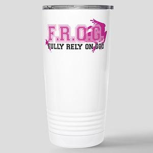 FROG pink 16 oz Stainless Steel Travel Mug