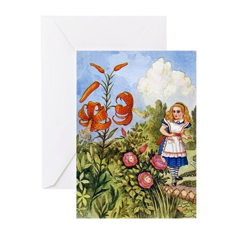 ALICE & THE TALKING FLOWERS Greeting Cards (Pk of