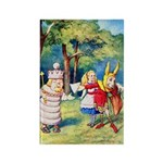ALICE & THE WHITE KING Rectangle Magnet