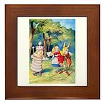 ALICE & THE WHITE KING Framed Tile