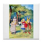 ALICE & THE WHITE KING Tile Coaster