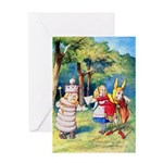ALICE & THE WHITE KING Greeting Card