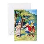 ALICE & THE WHITE KING Greeting Cards (Pk of 10)