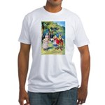 ALICE & THE WHITE KING Fitted T-Shirt