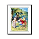 ALICE & THE WHITE KING Framed Panel Print