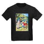 ALICE & THE WHITE KING Kids Dark T-Shirt