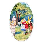 ALICE & THE WHITE KING Sticker (Oval 10 pk)