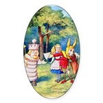 ALICE & THE WHITE KING Sticker (Oval)