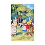 ALICE & THE WHITE KING Sticker (Rectangle 10 pk)