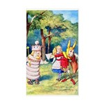 ALICE & THE WHITE KING Sticker (Rectangle)