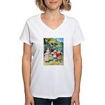 ALICE & THE WHITE KING Women's V-Neck T-Shirt