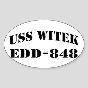 USS WITEK Sticker (Oval)