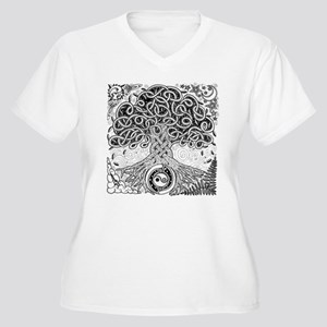 Celtic Tree of Life Ink Women's Plus Size V-Neck T