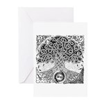 Celtic Tree of Life Ink Greeting Cards (Pk of 20)