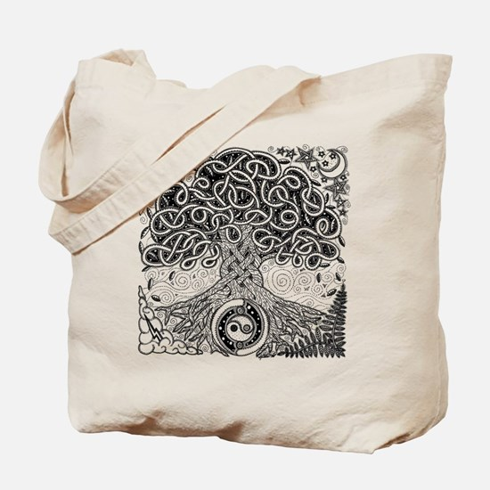 Celtic Tree of Life Ink Tote Bag