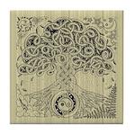Celtic Tree of Life Ink Tile Coaster