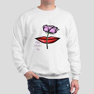 Happy Valentine's Day (lips) Sweatshirt
