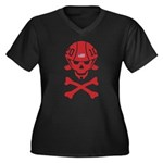 Lil' SpeedSkater Skully Women's Plus Size V-Neck D