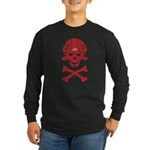 Lil' SpeedSkater Skully Long Sleeve Dark T-Shirt