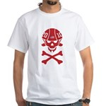 Lil' SpeedSkater Skully White T-Shirt