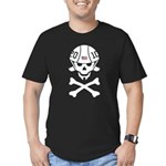 Lil' SpeedSkater Skully Men's Fitted T-Shirt (dark