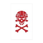Lil' SpeedSkater Skully Sticker (Rectangle 10 pk)
