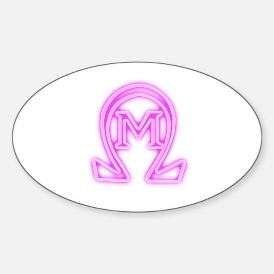 revenge of the nerds omega mu Sticker (Oval)