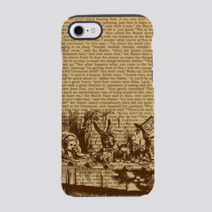 alice-vintage-border_brown_9-86x18v iPhone 7 T