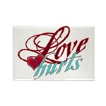 Love Hurts Rectangle Magnet