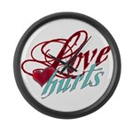 Love Hurts Large Wall Clock