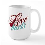 Love Hurts Large Mug