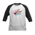 Love Hurts Kids Baseball Jersey