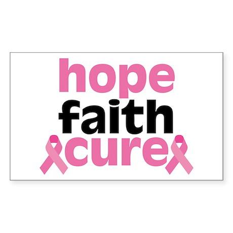 Hope Faith Cure Sticker (Rectangle)