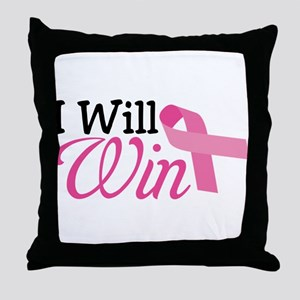 I Will Win Throw Pillow