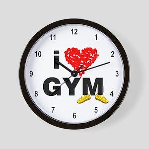 I Heart Gym Wall Clock