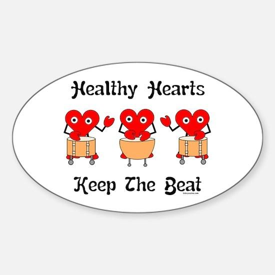 Healthy Hearts Sticker (Oval)