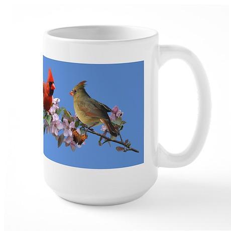 Cardinal pair Large Mug
